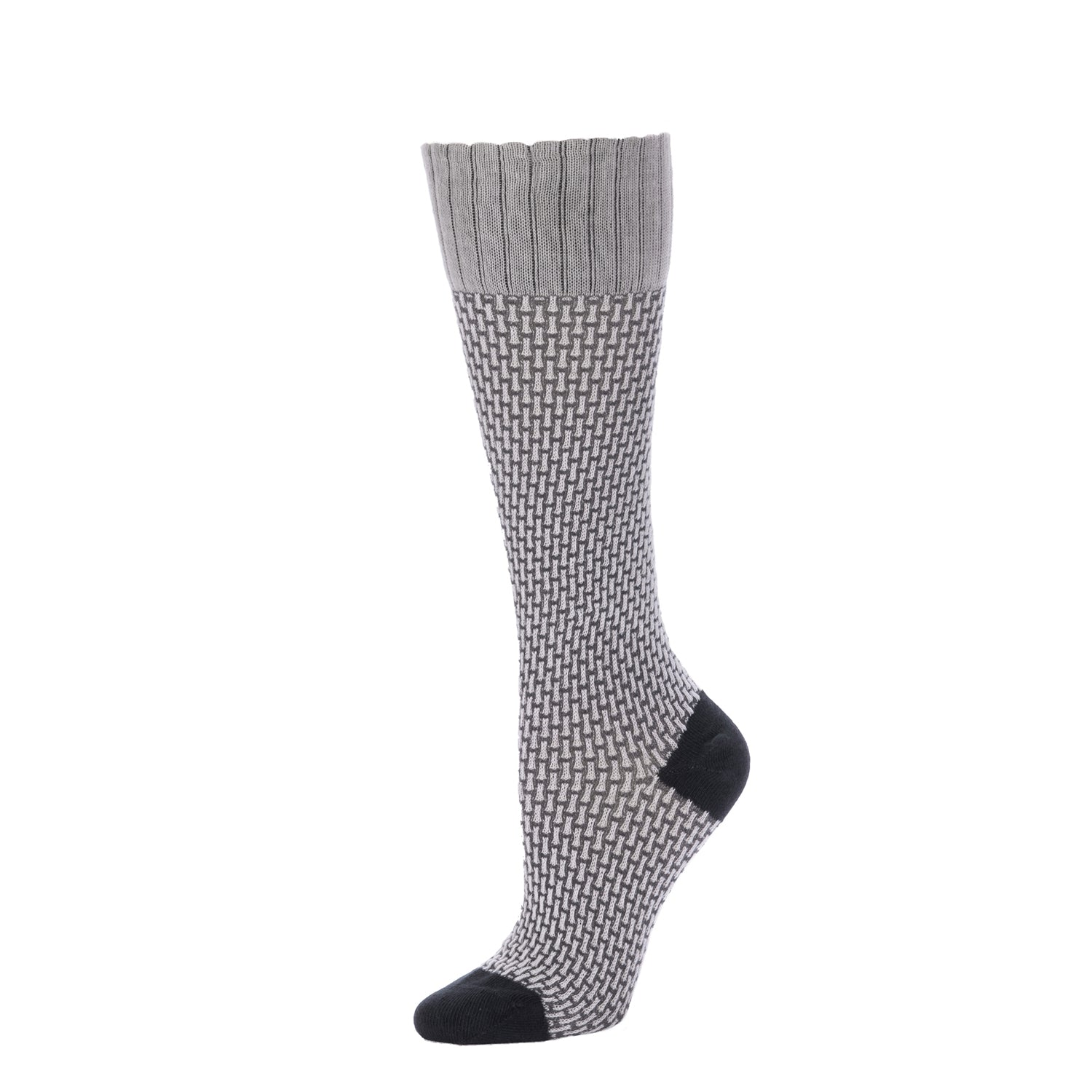 Basket Weave Textured Knee High- Vapor