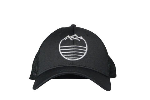 Mountain Waves Hat // Black/Steel Grey, Hat, Standard Lifewear, Standard Lifewear Standard Lifewear