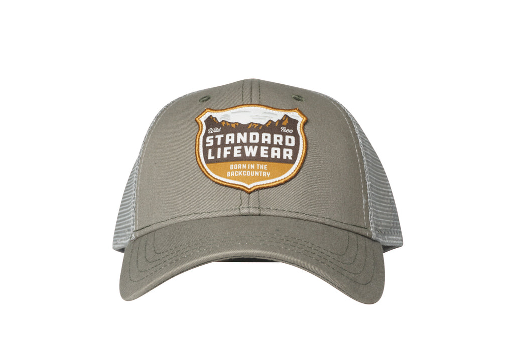 Born in the Backcountry Hat    Steel Grey – Standard Lifewear 2c7c5211cbd4