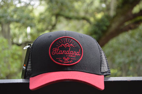 Standard Mountains Hat -Black/Red, Hat, Standard Lifewear, Standard Lifewear Standard Lifewear