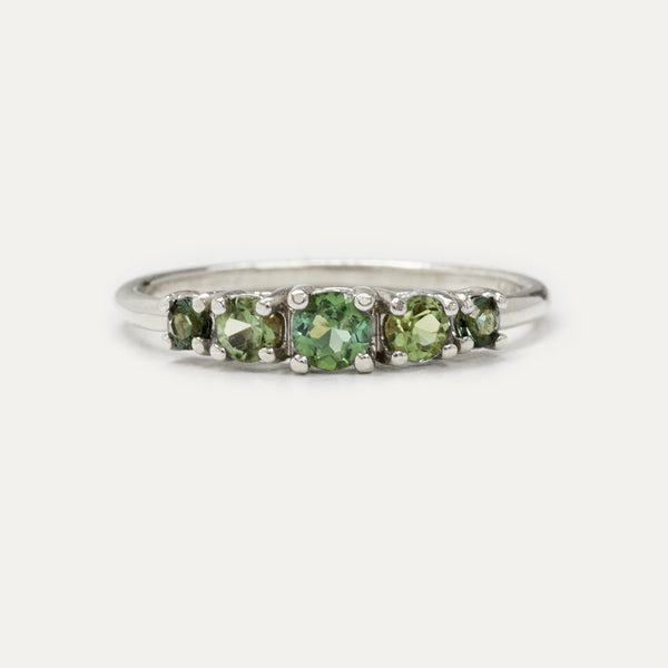 Customer Review - Multi Color Green Tourmaline Ring