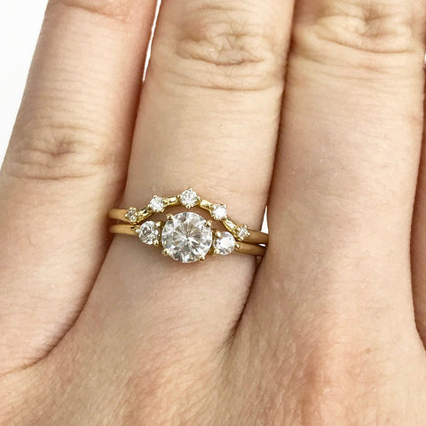 Stellar Curved Diamond Ring