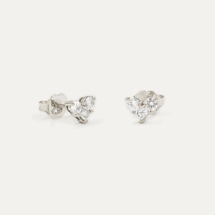 Molly Heart Diamond Studs