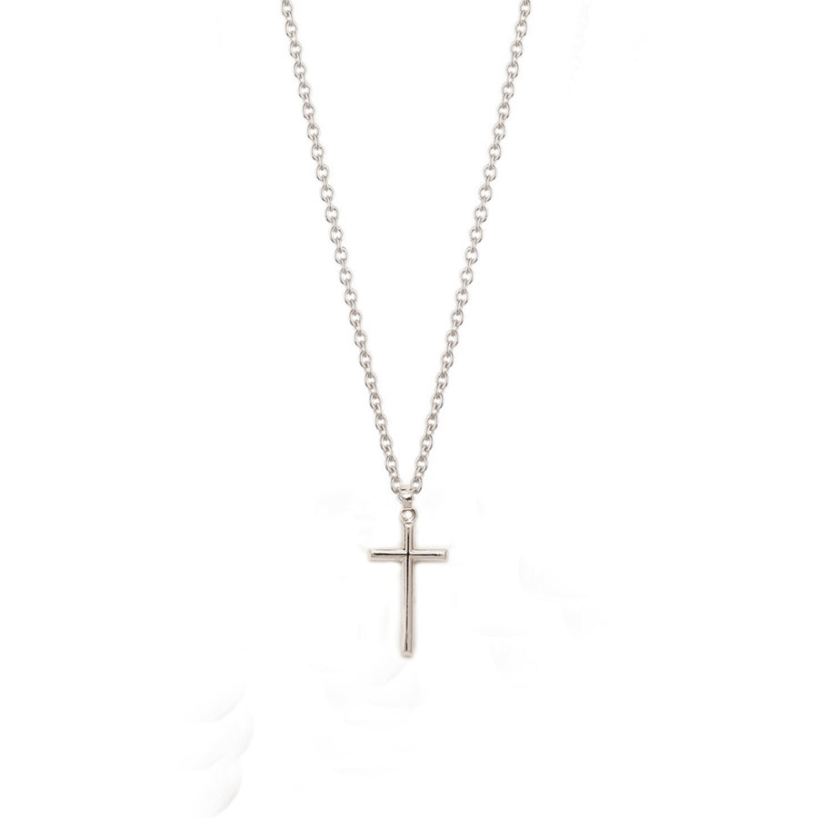 14k White Gold Cross Necklace One of a Kind - A Gilded Leaf jewelry