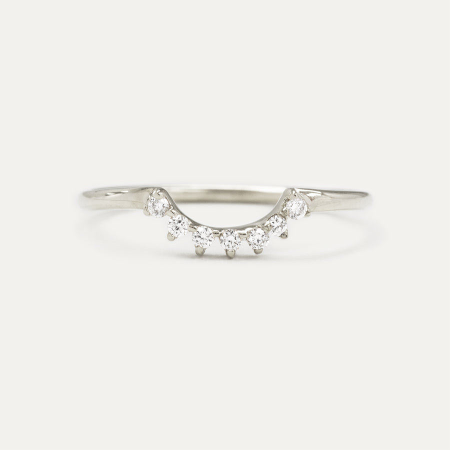 Diamond Low Curve Wedding Ring
