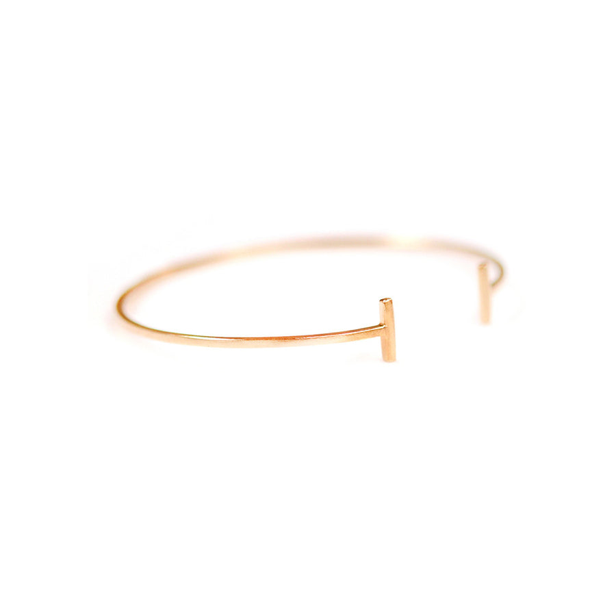 Parallel T-Bar Bangle Bracelet - A Gilded Leaf jewelry