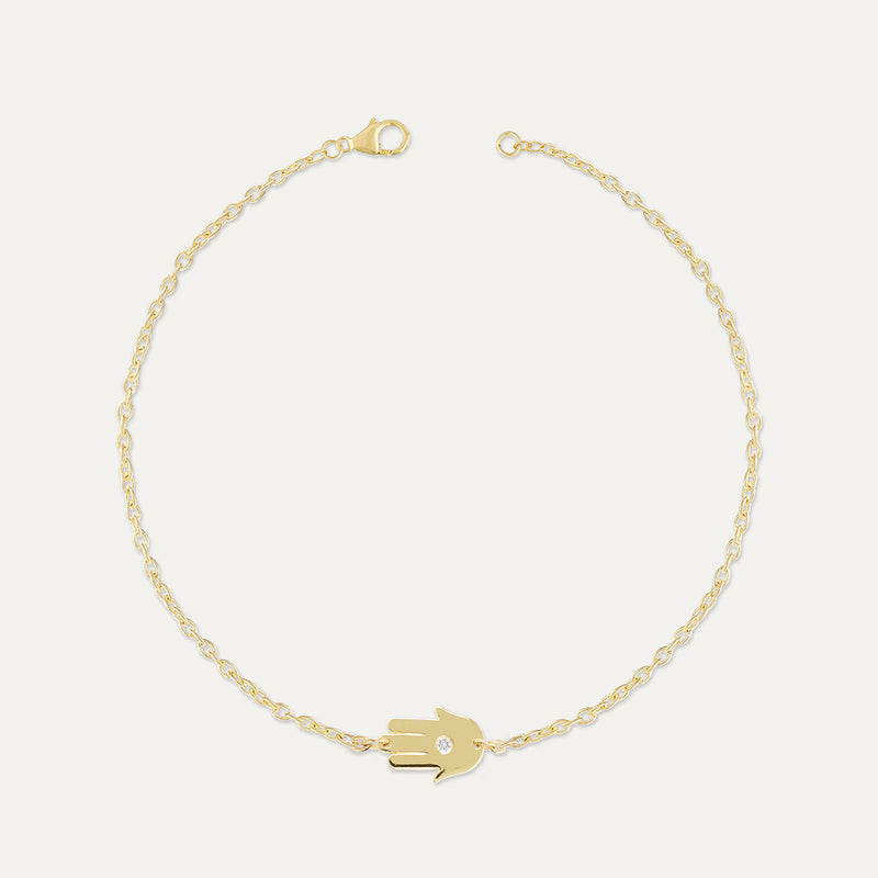 Hamsa Diamond Bracelet Bracelet - A Gilded Leaf jewelry