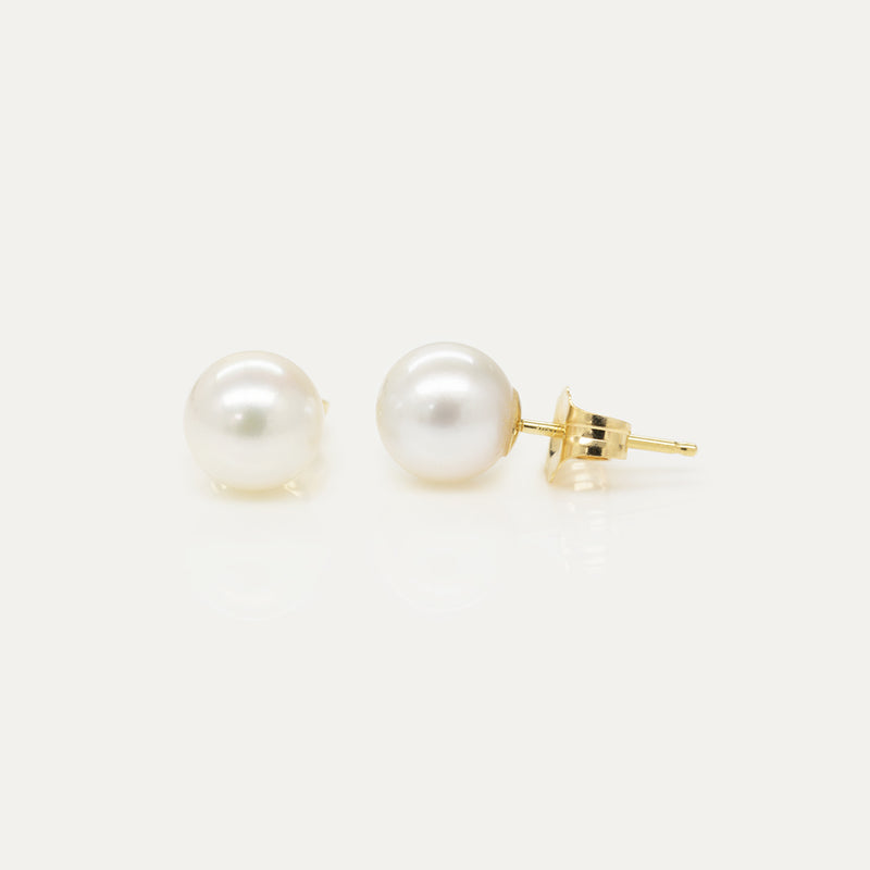 Oro White Pearl Earrings Earrings - A Gilded Leaf jewelry