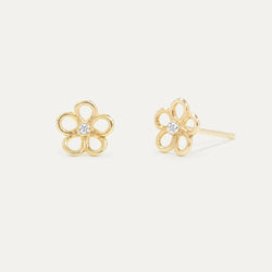 Daisy Diamond Earrings Earrings - A Gilded Leaf jewelry