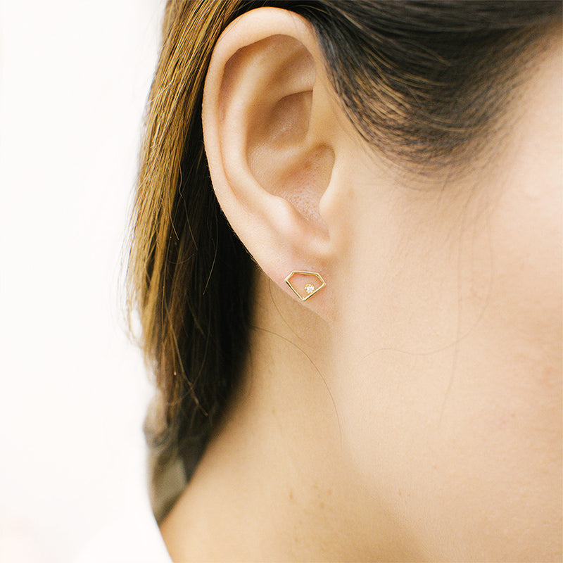 "The Diamond ""Inception"" Earrings Earrings - A Gilded Leaf jewelry"