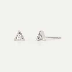Diamond Triangle Earrings
