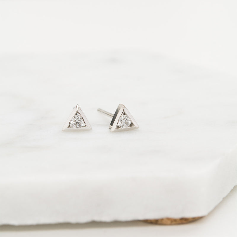 Diamond Triangle Earrings Earrings - A Gilded Leaf jewelry