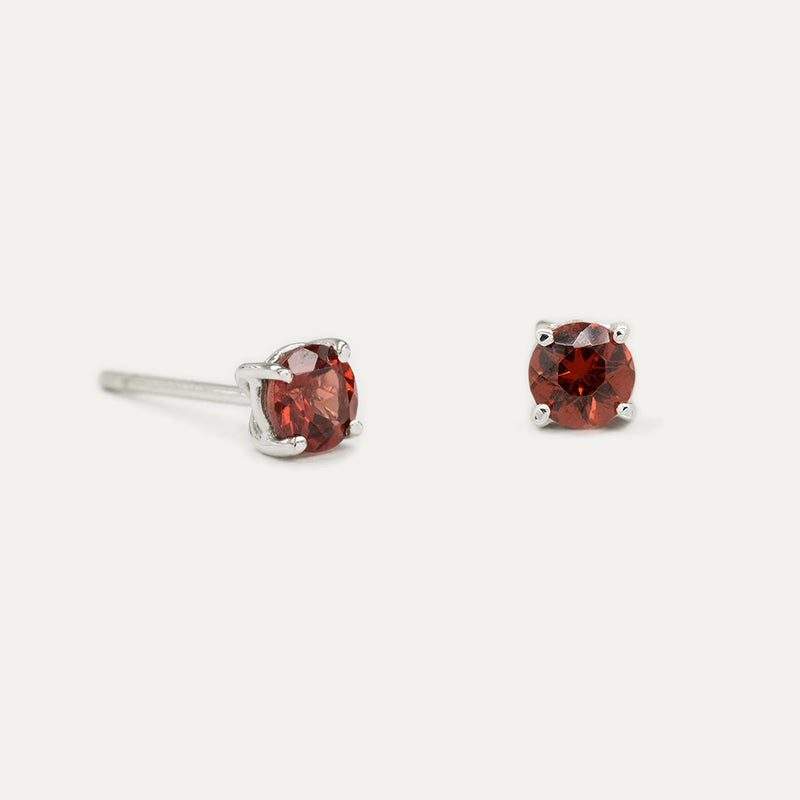Garnet Stud Earrings