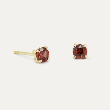 4MM Garnet Sparkler Earrings