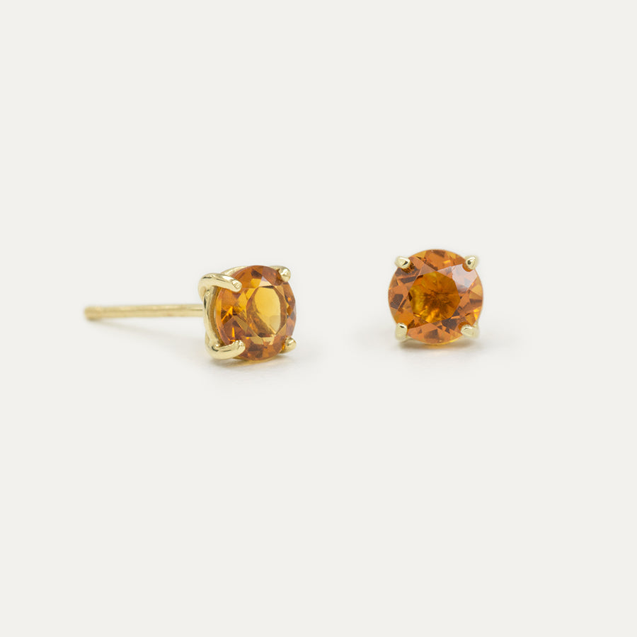 5MM Citrine Sparkler Earrings