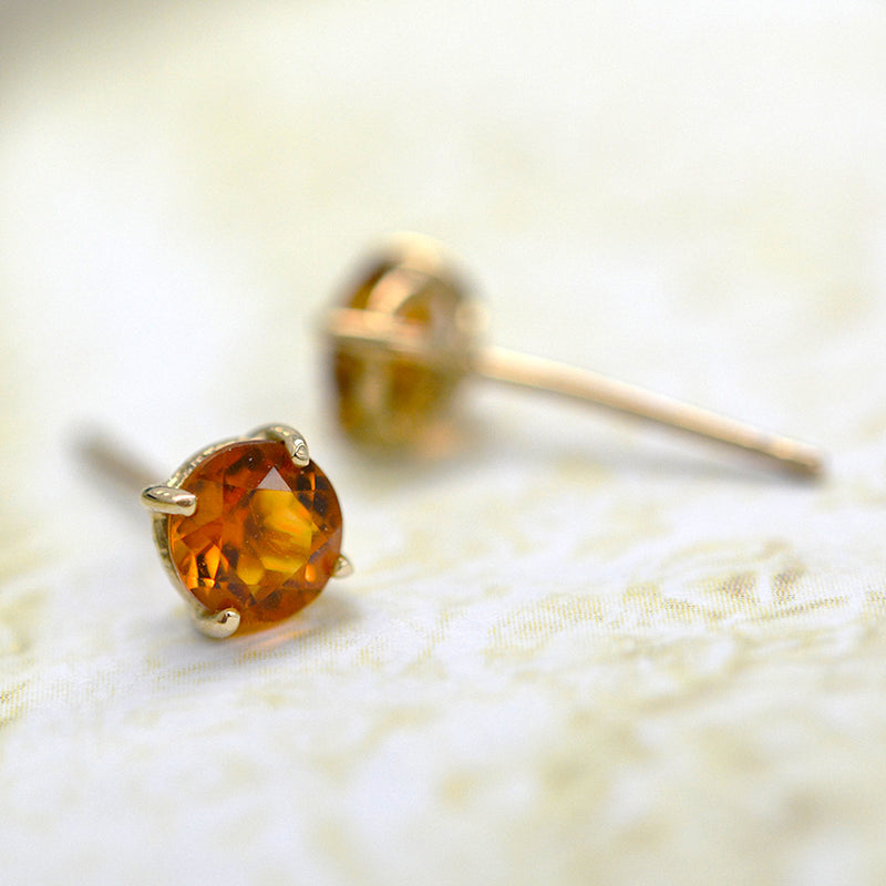 Citrine Sparkler Earrings Earrings - A Gilded Leaf jewelry