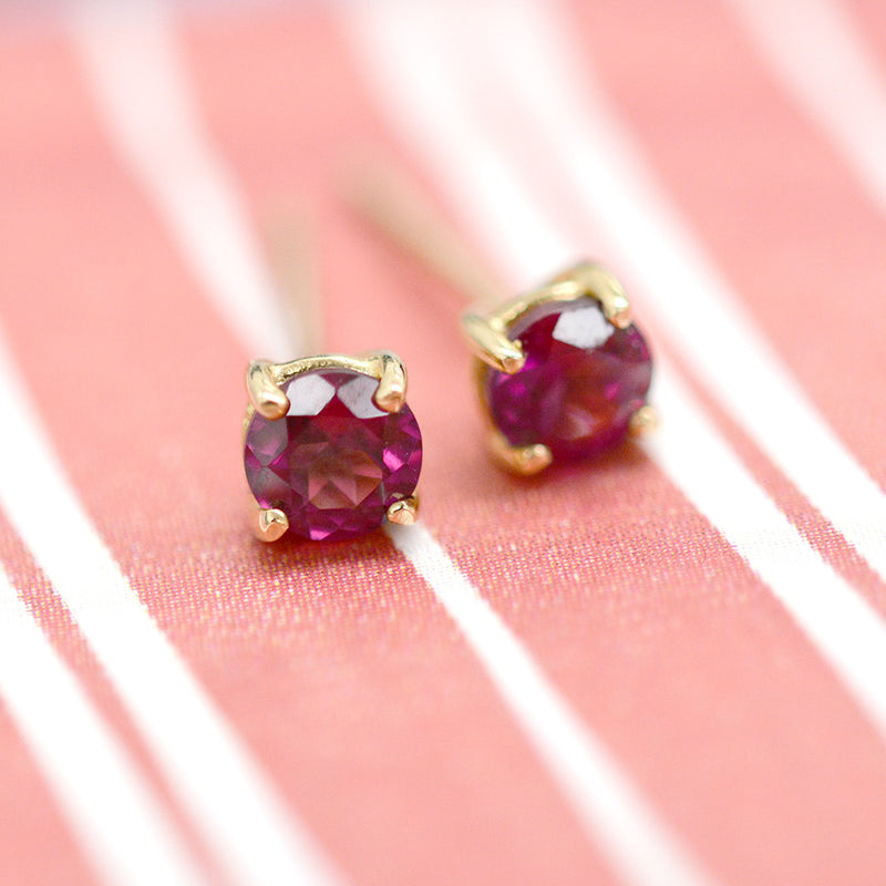 Rhodolite Garnet Sparkler Earrings Earrings - A Gilded Leaf jewelry
