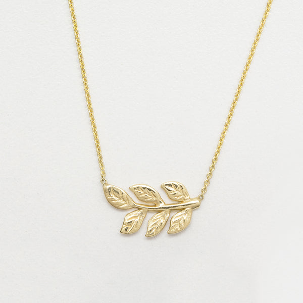 Carved Leaf Necklace Necklace - A Gilded Leaf jewelry