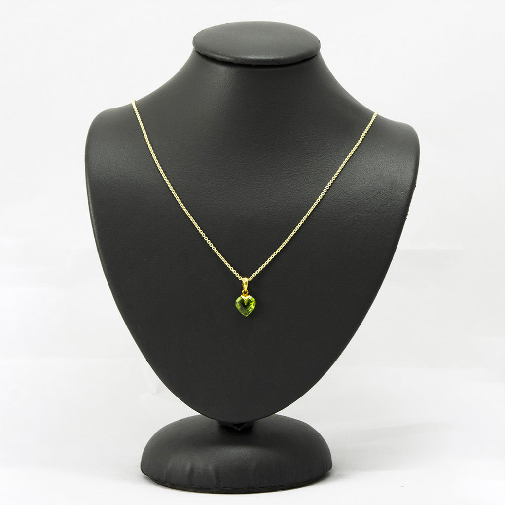 Haritha Heart Peridot Necklace One of a Kind - A Gilded Leaf jewelry