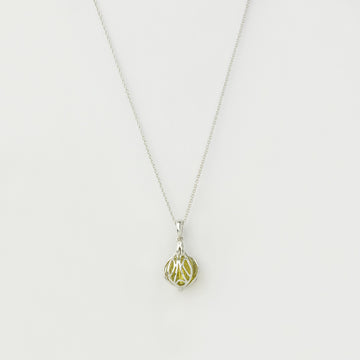 Willa Drop Pendant - Green Gold