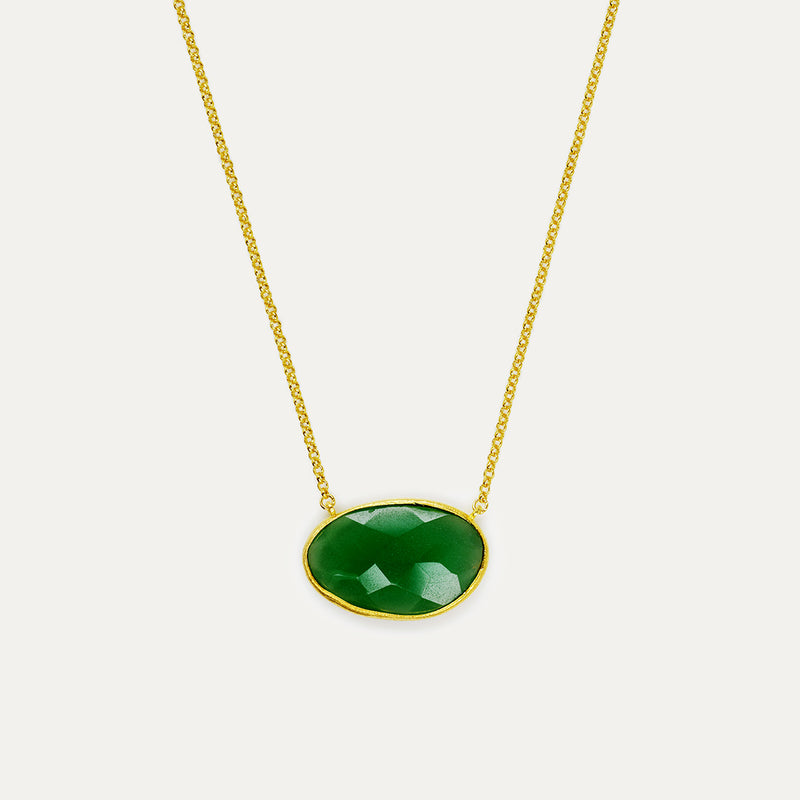 Green Hydro Bauble Necklace - Large Necklace - A Gilded Leaf jewelry