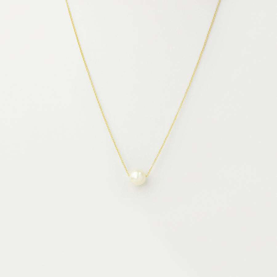 Oro White Pearl Necklace Necklace - A Gilded Leaf jewelry