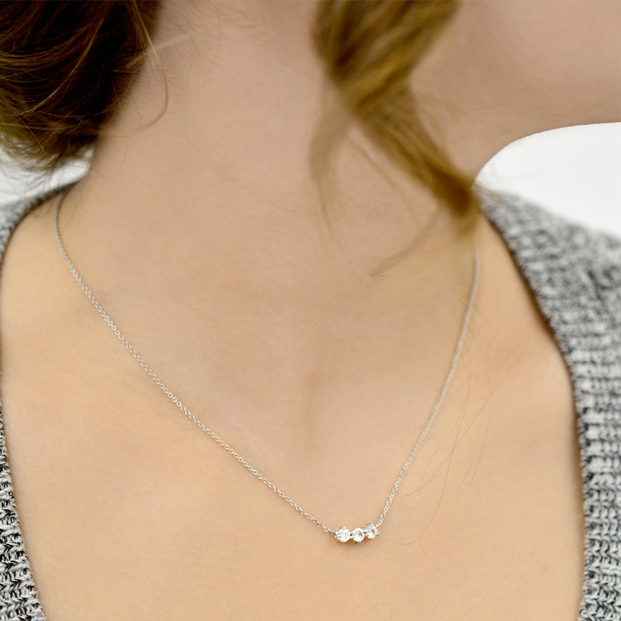 Dawn's White Sapphire Necklace Necklace - A Gilded Leaf jewelry