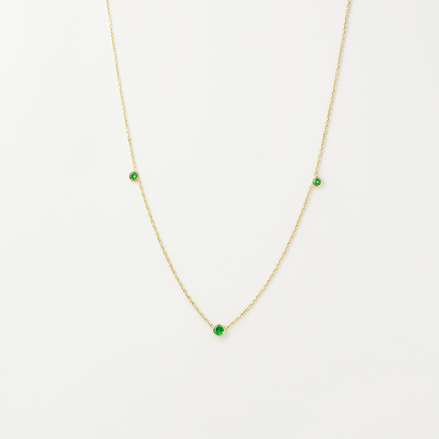Orion's Green Garnet Necklace Necklace - A Gilded Leaf jewelry