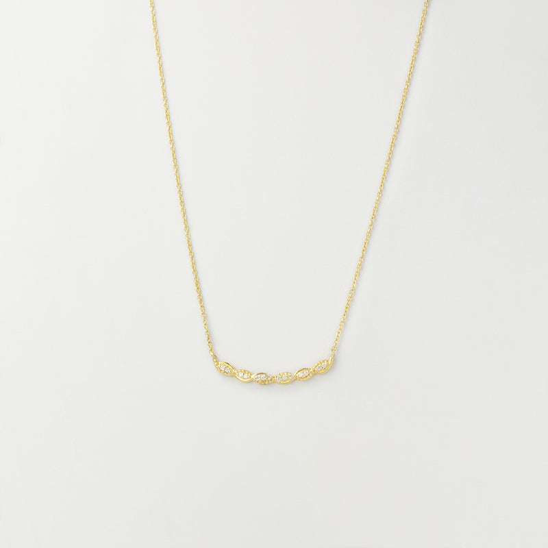 Diamond Train Necklace