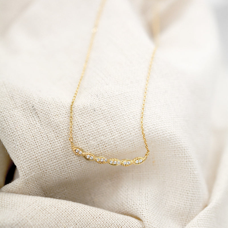 Diamond Train Necklace Necklace - A Gilded Leaf jewelry