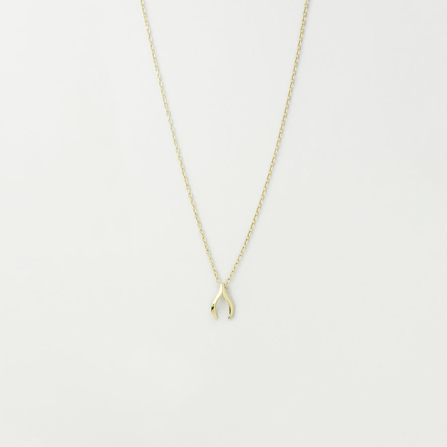 Lucky Wishbone Necklace Necklace - A Gilded Leaf jewelry