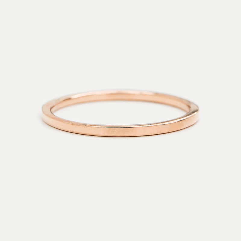 Classic Flat Gold Ring - 1.25 MM - Sample