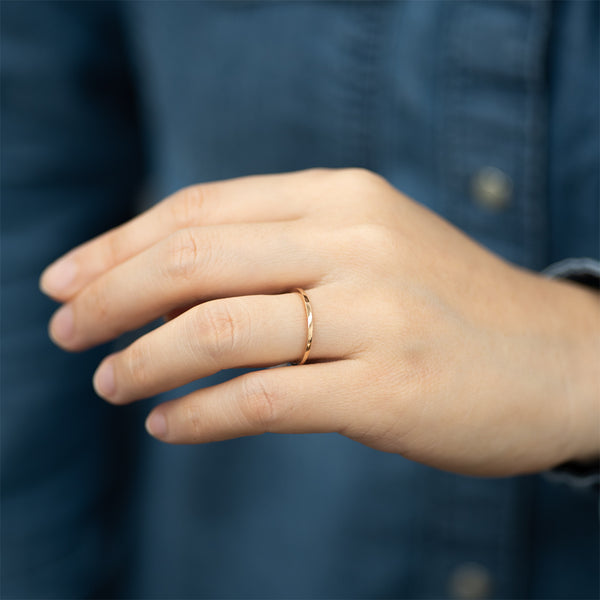Classic Flat Gold Ring - 1.25 MM