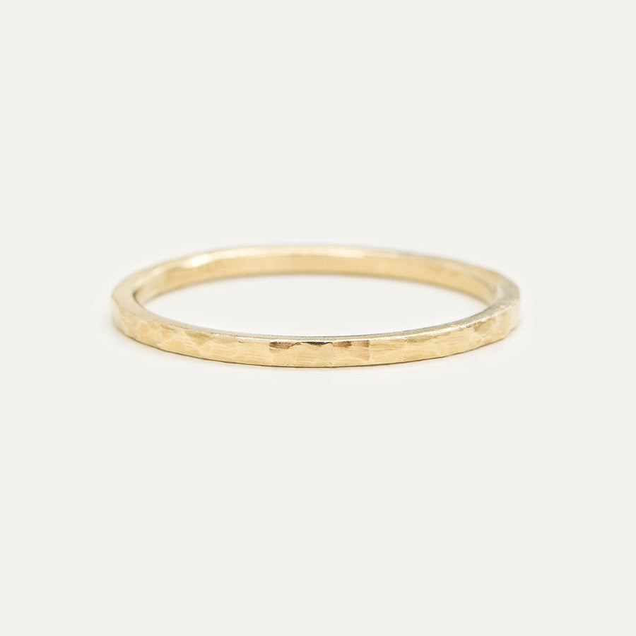 Hammered Stacking Ring 1.20MM