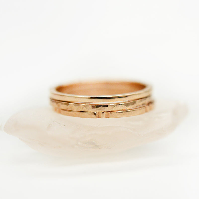 Hammered Flat Ring - 1.25 MM