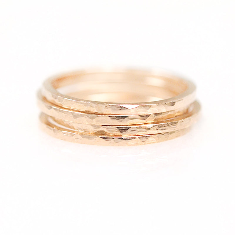 Hammered Flat Ring - 1.25 MM - Sample