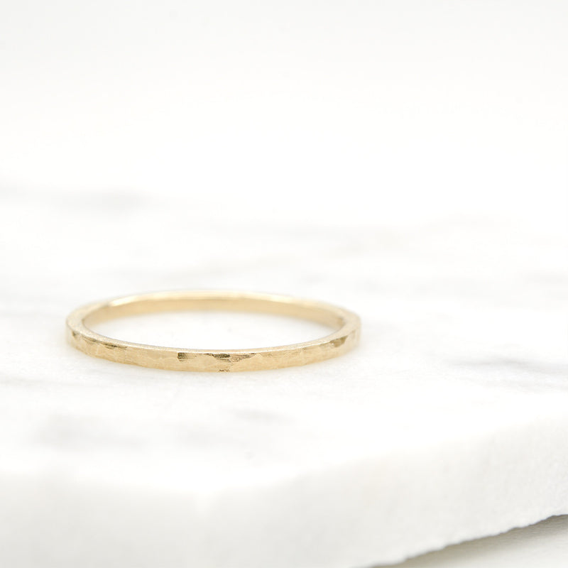 Hammered Stacking Ring 1.20MM Rings - A Gilded Leaf jewelry