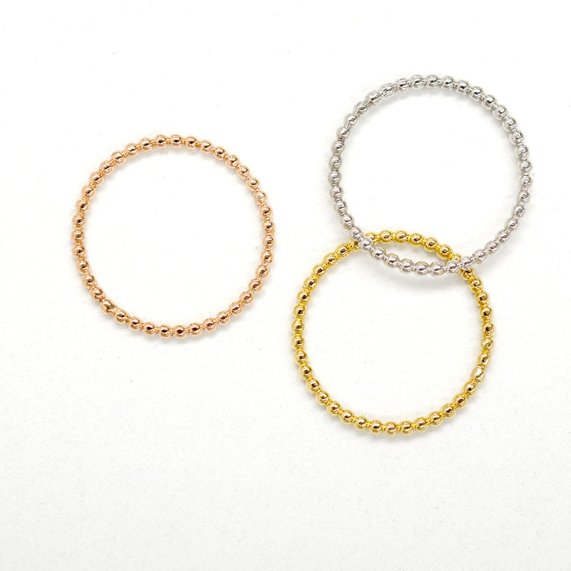 Petite Beaded Gold Ring - Sample