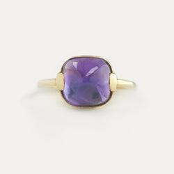 Cushion Amethyst Ring - Sample