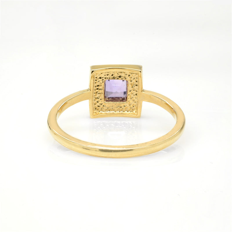 Z-Tinley Ring - Amethyst - Solid 14K Gold Discontinued - Rings - A Gilded Leaf jewelry