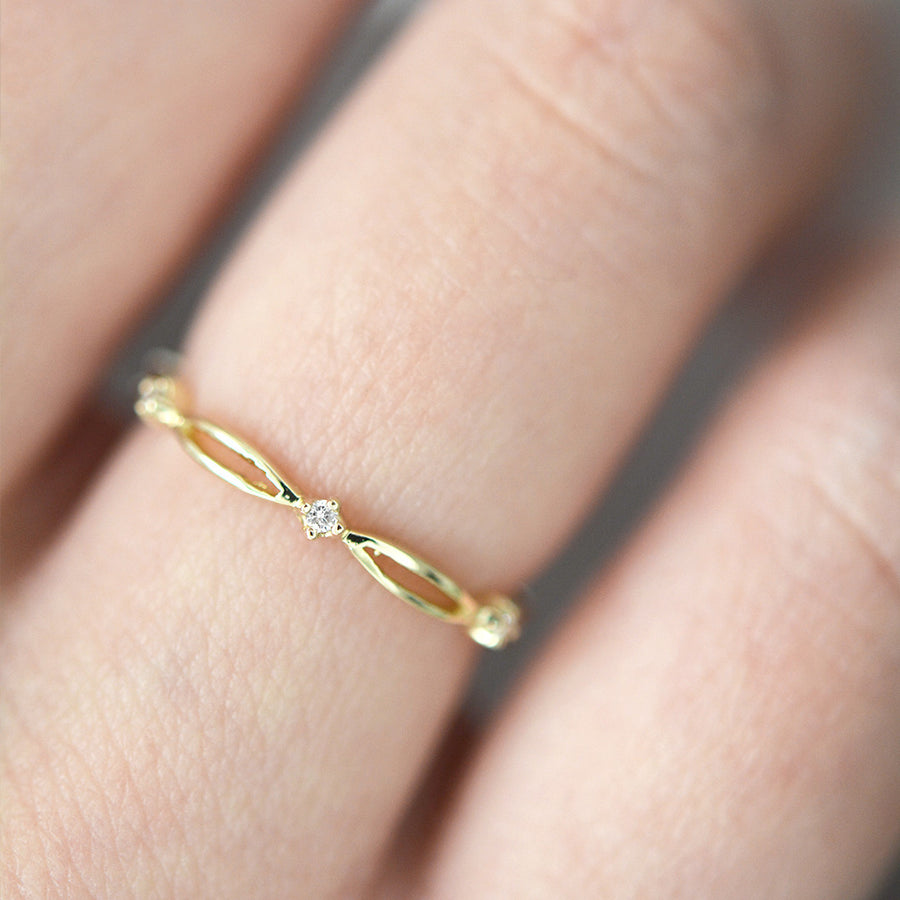 Jessica Diamond Ring Rings - A Gilded Leaf jewelry