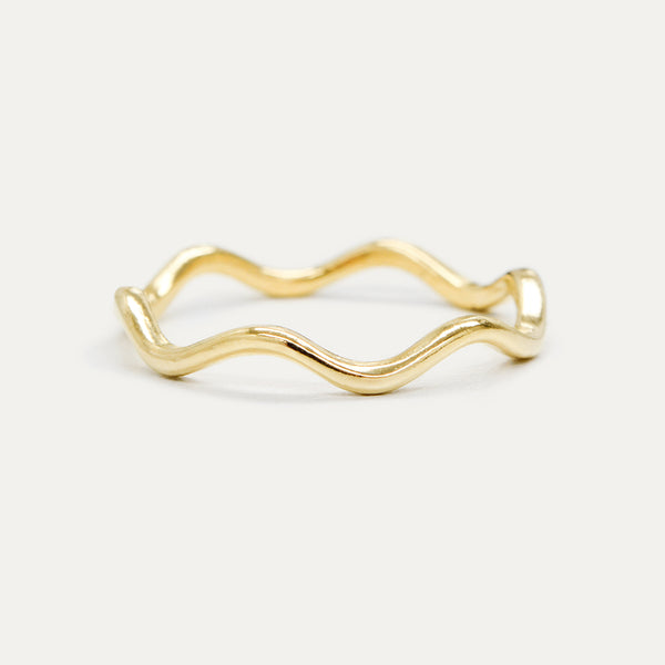Wavy Gold Ring Rings - A Gilded Leaf jewelry