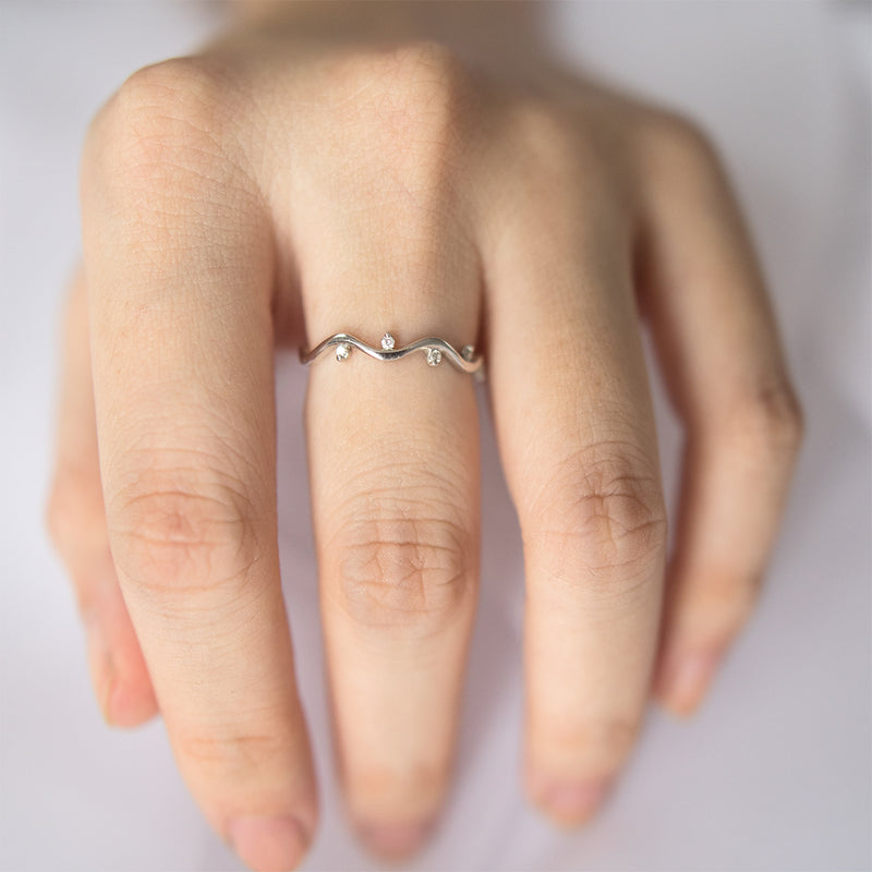 Diamond Wavy Ring - Sample