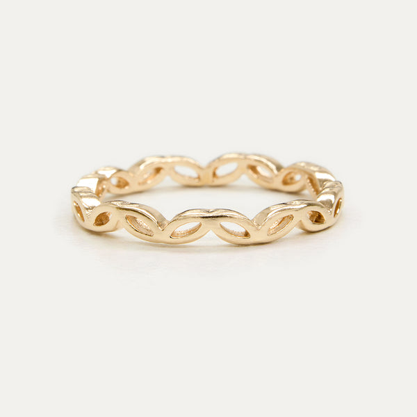 Crown Leaf Ring - 2 MM