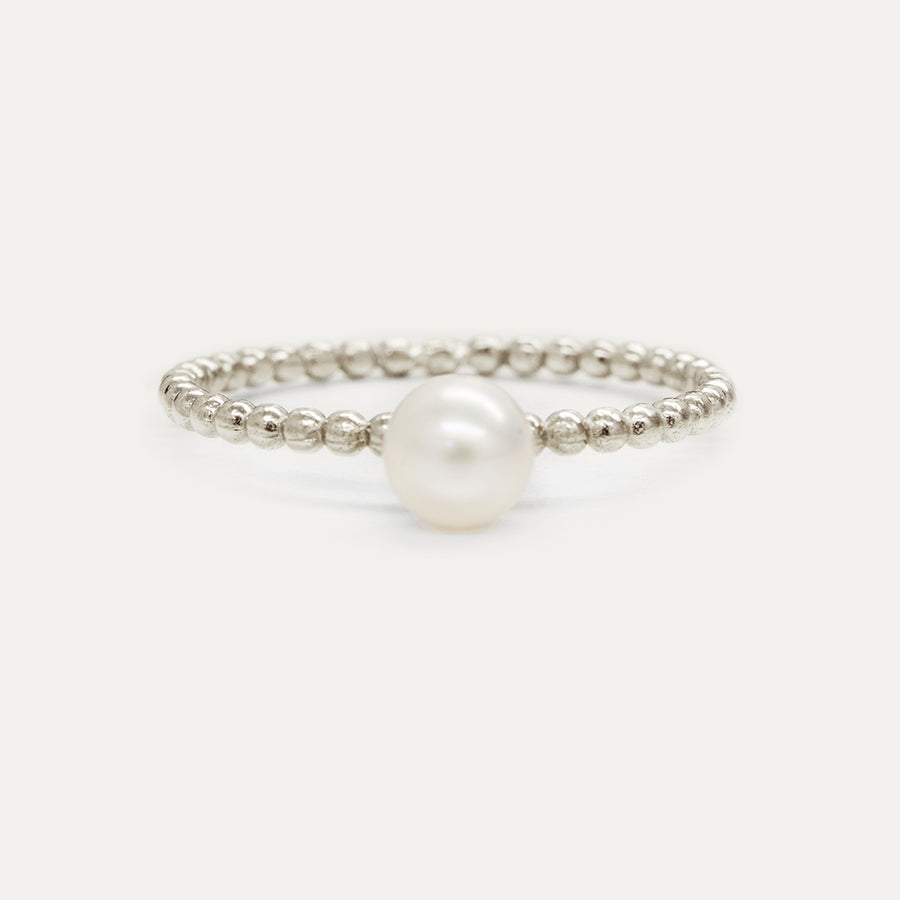 Oro Pearl Beaded Ring
