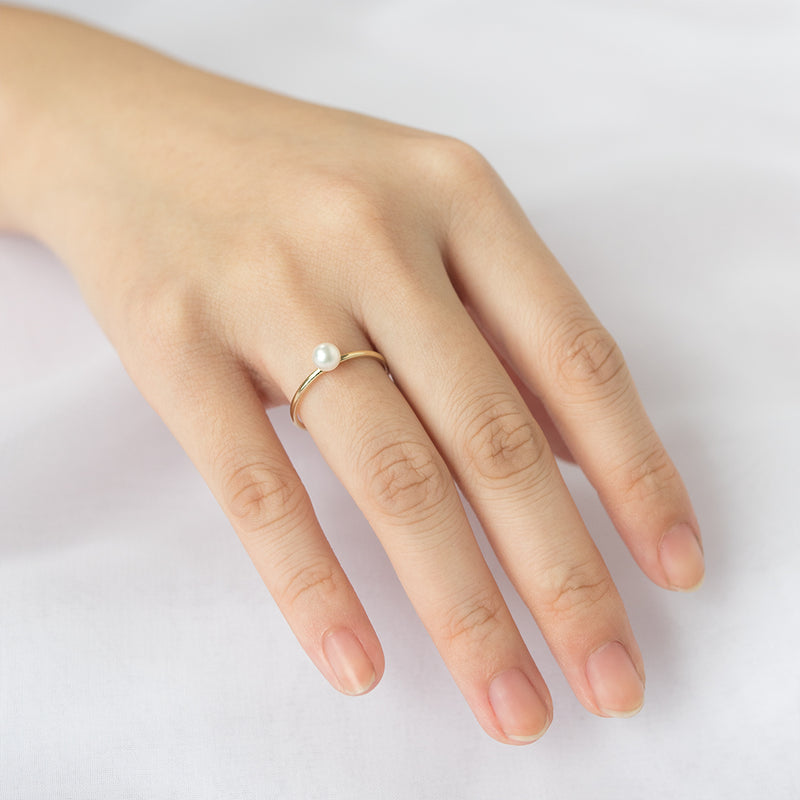 Oro Pearl Plain Ring