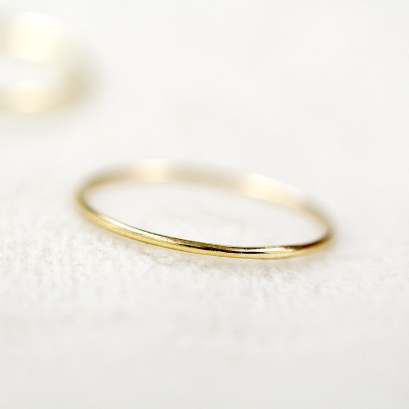 Minimal Thin Stacking Ring Rings - A Gilded Leaf jewelry