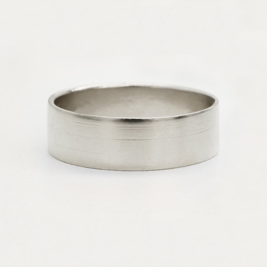 Contemporary Flat Wide Band 6MM - White Gold