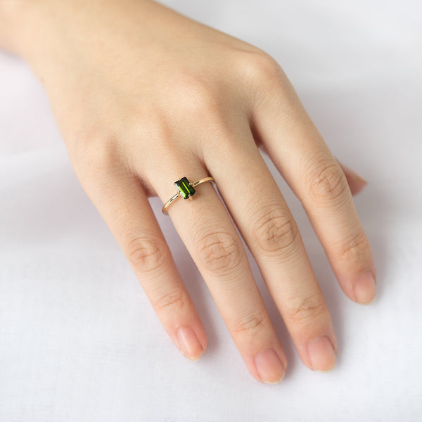 Green Tourmaline Sparkler Ring - Sample