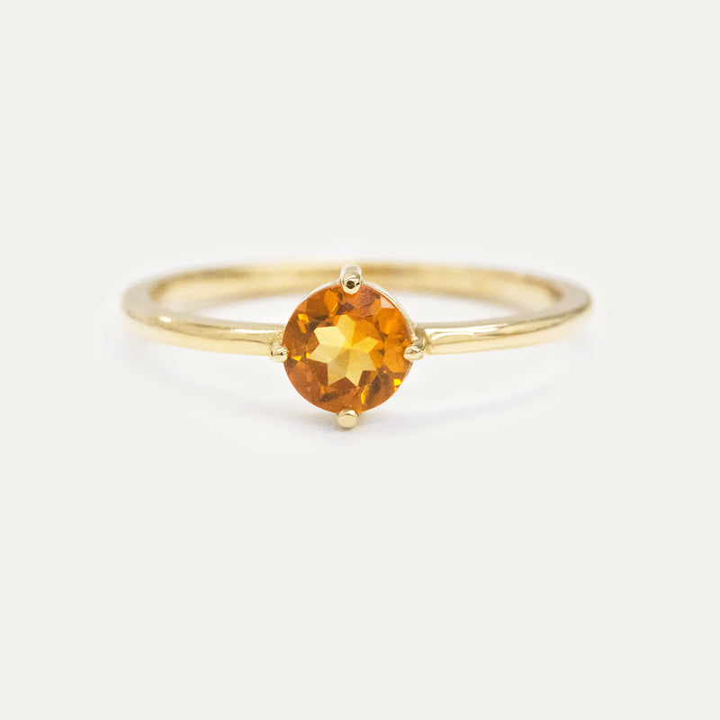 Citrine Sparkler Ring Rings - A Gilded Leaf jewelry